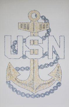Anchor Drawings, Word Drawings, Cute Drawings, Navy Anchor Tattoos, Navy Tattoos, Tatoos, Navy Chief Anchor, Us Navy Emblem, Us Navy Logo
