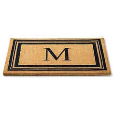 Replace your old welcome mat with the refined and durable Monogrammed Coco Door Mat for the perfect personal touch your entry needs.