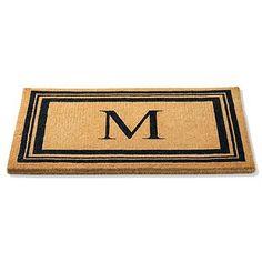 multiple sizes - Monogrammed Coco Border Door Mat