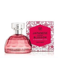 Japanese Cherry Blossom Strawberry Kiss Eau De Toilette - 50ml | The Body Shop Body Shop At Home, The Body Shop, Cherry Blossom Petals, Sweet Magnolia, Holiday Essentials, Teacher Christmas Gifts, Pink Peonies, Big Data, Liam Payne
