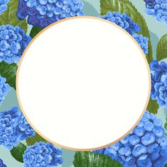 Gold round hydrangea flower frame design resource | free image by rawpixel.com / paeng Hydrangea Flower, Flowers, Creative Things, Flower Frame, Free Illustrations, Free Images, Badge, Cool Designs, Bloom