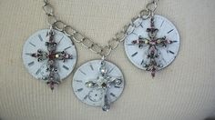 Check out Vintage Assemblage Watch FaceNecklace-Give Me Some Old Time Religion on annielorraine
