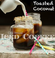 Ultra smooth, nutty cold-brewed iced coffee without a hint of bitterness. THE BEST iced coffee you will ever taste and it's so easy to make! Best Iced Coffee, Little's Coffee, Coffee Creamer, Starbucks Coffee, Coffee Drinks, Coffee Time, Beverage Drink, Coffee Menu, Coffee Scrub