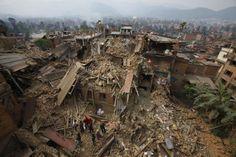 Foto gempa di nepal