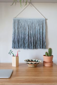 Tie-Dye Wall Hanging by Lorena Canals Lorena Canals Rugs, Cotton Plant, Project Nursery, Nursery Ideas, Washable Rugs, Wall Hanger, Hangers, Blue Walls, Design Consultant