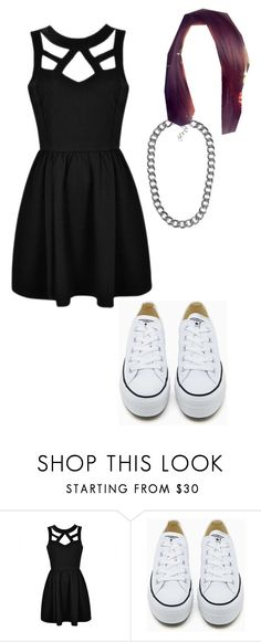 """piano recital on wednesday"" by youknowwhatimsaying ❤ liked on Polyvore featuring Converse, NLY Accessories and Alba Botanica"