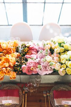 Ombre centerpiece: http://www.stylemepretty.com/2015/05/09/the-prettiest-ombre-wedding-details/