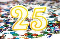 Celebration Candle - Number 25