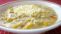 From Grandma Loy's Kitchen: Southwestern Chicken Corn Chowder