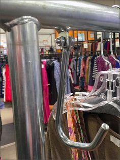Permanent J-Hook Rack Mystery Hook Rack, Visual Merchandising, Hooks, Mystery, Retail, Wall Hooks, Sleeve, Crocheting, Retail Merchandising