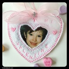 Machine Embroidery Reverse Applique Heart Ornaments