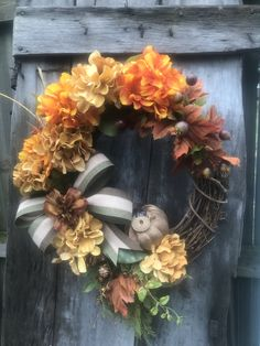 Fall Floral Grapevine Wreath for Front Door, Fall wreaths for front door, farmhouse wreath, Fall Pumpkin wreath, Fall Door Decor, Orange by DesignsbyDebbyOhio on Etsy Pumpkin Wreath, Wreath Fall, Grapevine Wreath, Primitive Wreath, Fall Door Decorations, Country Wreaths, Outdoor Wreaths, Wreaths For Front Door, Fall Pumpkins