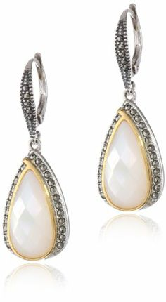 "Judith Jack ""Dewdrop"" Sterling Silver, Marcasite and Mother of Pearl Drop Earrings Judith Jack,http://www.amazon.com/dp/B00BGQT2GU/ref=cm_sw_r_pi_dp_umJbsb1AQ5N412SN"