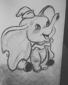 Dumbo 2019 – Graffiti World Easy Disney Drawings, Disney Drawings Sketches, Cute Easy Drawings, Art Drawings Sketches Simple, Pencil Art Drawings, Cartoon Drawings, Animal Drawings, Sketch Art, Dumbo Drawing
