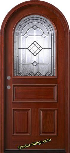 Arched wood door. www.thedoorkings.com
