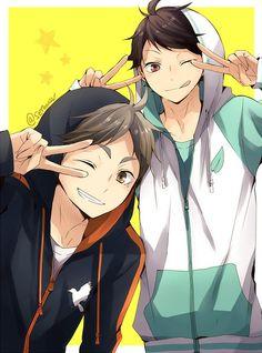 Sugawara and Oikawa