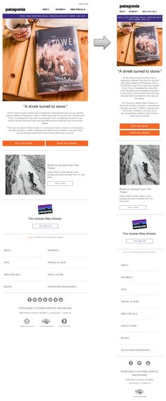 Responsive email design from Patagonia