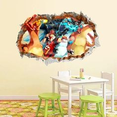 Pokémon Wall Decals – the treasure thrift Pokemon Wall Decals, Original 151 Pokemon, Cute Monsters, Room Wallpaper, Interior Walls, Bed Room, Your Space, Thrift, Creative Design