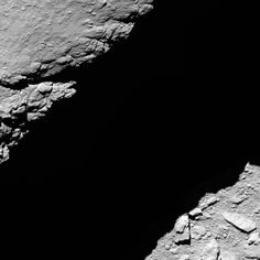 Rosetta's OSIRIS narrow-angle camera captured this image of Comet 67P/Churyumov-Gerasimenko at 10:14 GMT from an altitude of about 1.2 km during the spacecraft's final descent on 30 September.