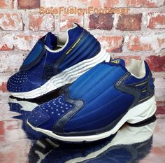 adidas mens trimm trab formatori blu / bianco sz 7 si ripropone di münchen scarpa