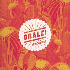 ORALE! BRANDING I developed the logo and house style for Amsterdam's best Pop-Up Taqueria #logo