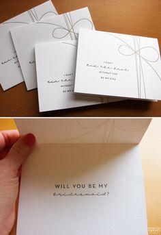 """Will You Be My Bridesmaid?"" idea"