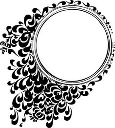 nice_design_circle_with_leaf_ornament_black.jpg (382×425)