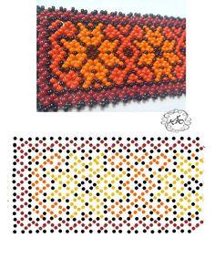 Natali Khovalko Beading Patterns Free, Beaded Jewelry Patterns, Peyote Patterns, Beading Tutorials, Seed Bead Projects, Bead Loom Bracelets, Loom Beading, Crochet Designs, Beaded Flowers