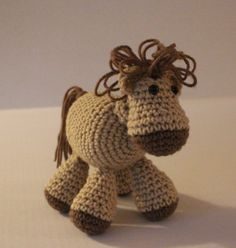 Stacey's Colt  PDF Crochet Pattern for Horse di craftyladyleah, $3.50