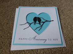 Anniversary card using memorybox/poppystamps dies