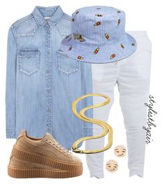 """""""Untitled #3803"""" by stylistbyair ❤ liked on Polyvore featuring Calvin Klein Jeans, Puma, King Ice and GoodWood"""
