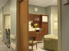 Accurate mock-ups of a typical patient room enable students, nurses, and physicians to practice their interaction and bedside manners with patients. Photo: Alise O'Brien