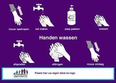 Handen wassen instructiekaart