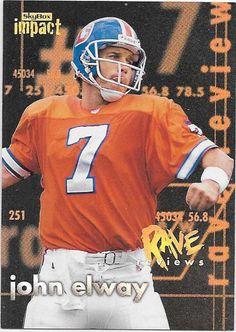 S040 JOHN ELWAY 1997 SKYBOX IMPACT DENVER BRONCOS RAVE REVIEW CARD #2 BK$50
