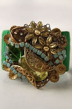 dutch wax collage cuff anthropologie | Found on 3fourandunder.com