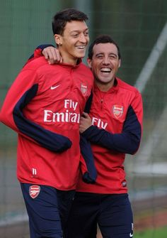 Mesut and Santi.  I love those smiles!