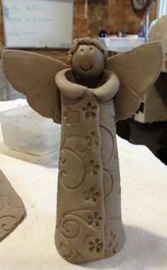 Angel of clay