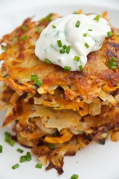 Potato Pancakes with potato, sweet potato, and zucchini