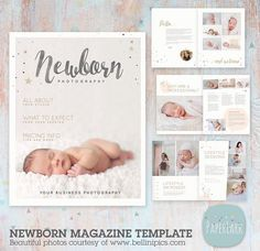 Newborn Photography Magazine Template 22 by PaperLarkDesigns