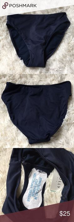 Seafolly Indigo Retro Powermesh Pant Bikini High waisted. Control pant to cover the tummy. Seafolly Swim Bikinis