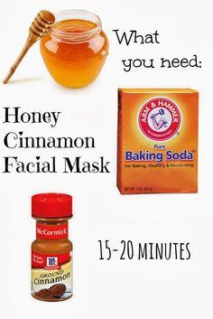 Love this combo! - Honey Cinnamon Homemade Facial Mask... Smells so delicious! Kills bacteria causing acne