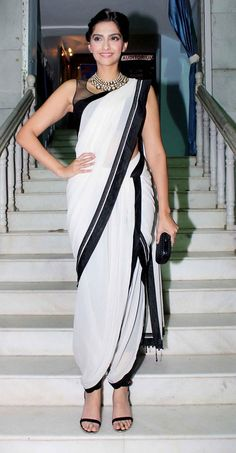 Dhoti sari. I remember crying when my mom had to make me wear it for a dance and now I think they are so stylish.