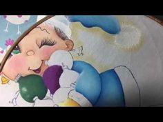 Pintura En Tela Niña Con Esferas # 3 Con Cony - YouTube