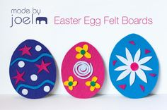 How fun are these DIY Easter egg felt boards for kids? Love!