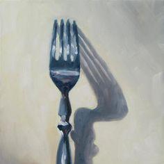 """Upright Fork"" - Original Fine Art for Sale - © Nora Bergman"