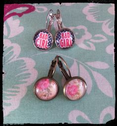Boucles d'oreilles 12mm Tous droits réservés la boîte de Pandore by Mélinda