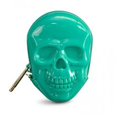 3D Skull Coin Bag by Loungefly (Green)