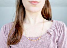 Easy DIY Beaded Bar Necklace