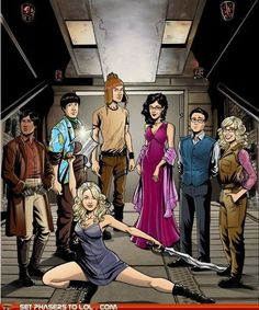 Big Bang Theory as Firefly crew