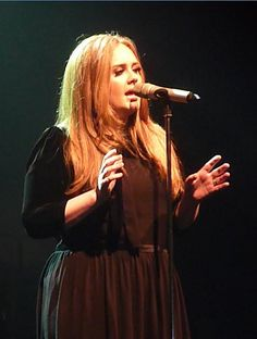 Adele Live at Manchester Academy 17th April 2011 - obsessed with her hair here.